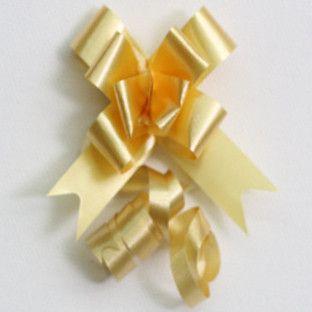 P.BOW PLAIN 14mm SOFT GOLD (100)