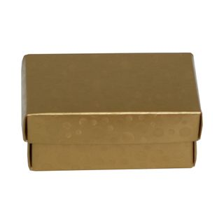 CHOC BOX MINI 95(L) x 65(W)x 40(W)mm GOLD CIRCLE (MIN BUY 10)