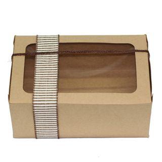 BISCUIT BOX BROWN KRAFT 220(L) x 150(W) x 90(H)mm
