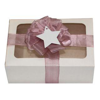BISCUIT BOX WHITE KRAFT 220(L) x 150(W) x 90(H)mm