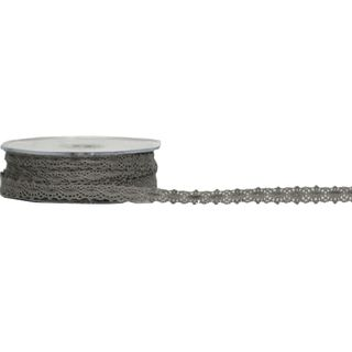 VICTORIAS LACE 12mm x 20M GREY