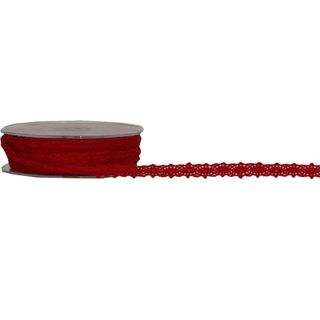 VICTORIAS LACE 12mm x 20M RED