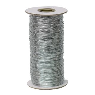 TINY TINSEL CORD 390M SILVER
