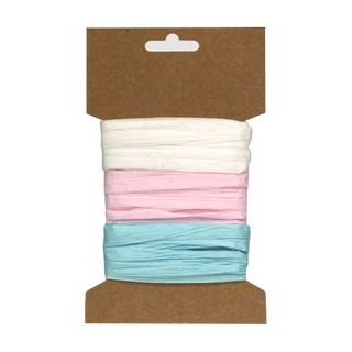 RAFFIA PACK 3 COLOURS CARD D (MIN BUY 6)