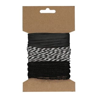 RAFFIA PACK 3 COLOURS CARD C (MIN BUY 6)