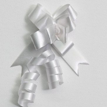 P.BOW PLAIN 14mm WHITE (100)