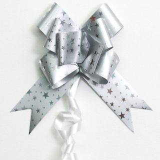 P.BOW STARS 32mm SILVER (100)