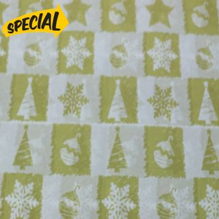 TISSUE REAM 100 SHEETS GOLD CHRISTMAS SIZE 50cm X 66cm