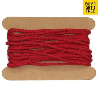 JUTE WIRED 3mmx10M RED-BUY1 GET1 FREE