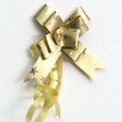 P.BOW STARS 14mm GOLD (100)