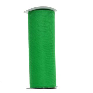 ORGANZA RIBBON 150mm x 20M EMERALD