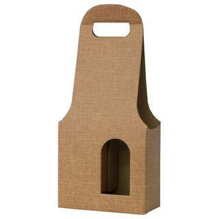 WINE BOX 2 BOTTLES 180x90x410mm BROWN KRAFT (CUT OUT)