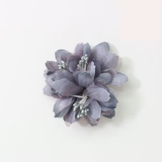 FABRIC FLOWERS (PACK OF 12) SILVER - BUY1 GET 1FREE (NO RETURNS)