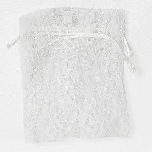 POUCH LACE MEDIUM 17(H) x 12.5(W)cm (10) WHITE