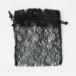 POUCH LACE MEDIUM 17(H) x 12.5(W)cm (10) BLACK