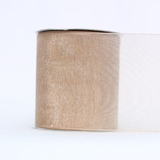 MONO EDGE ORGANZA 70mm x 23M TOFFEE