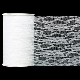 LACE 150mm x 23M WHITE
