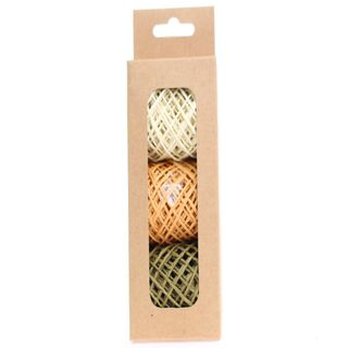 STRING PACK 3 COLOURS NATURAL MUSTARD OLIVE (15M PER ROLL)