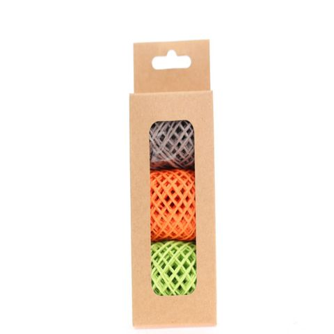 STRING PACK 3 COLOURS TAUPEE TANGERINE LIME (15M PER ROLL)