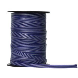 CURLING RIBBON PINSTRIPE 7mm x 225M BLUE/SILVER