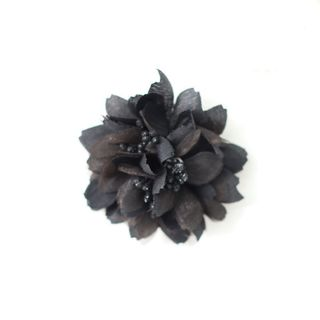 FABRIC FLOWERS (PACK OF 12) BLACK- BUY1 GET1 FREE (NO RETURNS)