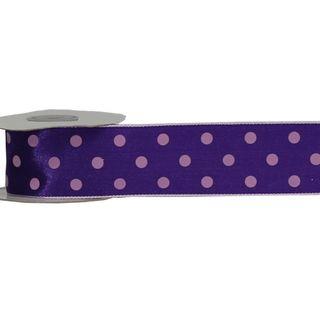 LULU 38mm x 9M PURPLE WITH PINK DOT (WIRED)