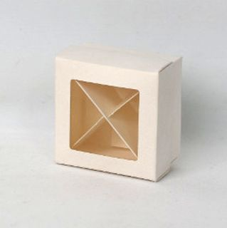 BON BON BOX SMALL 70(L)x70(W)x40(H)mm WHITE  (MIN BUY 10)
