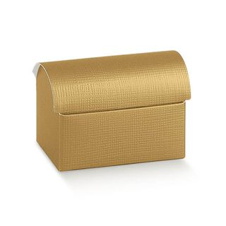 CHEST SMALL 70(L)x45(W)x52(H)mm GOLD -PACK OF 10