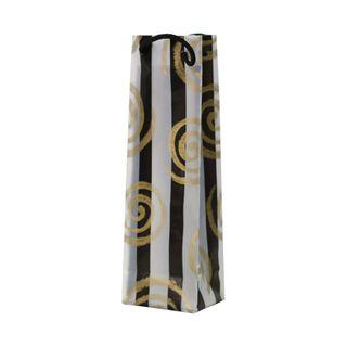 GOLD KORU RANGE WINE BAG 360Hx110Wx90Gmm-PACK OF 10 (REUSABLE)