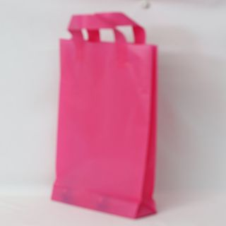 SOFTLOOP BAG MED 360Hx250Wx70Gmm HOT PINK (25)-90 MICRONS