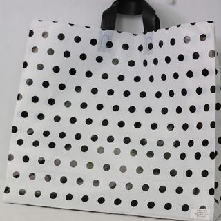 SOFTLOOP BAG LRG 395Hx450Wx150Gmm WHITE/BLACK DOTS (25)-90 MICRONS