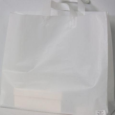 SOFTLOOP BAG LRG 395Hx450Wx150Gmm WHITE (25)-90 MICRONS