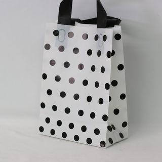 SOFTLOOP BAG SML 270Hx195Wx105Gmm WHITE/BLACK DOTS (25)-90 MICRONS