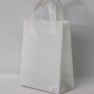 SOFTLOOP BAG SML 270Hx195Wx105Gmm WHITE (25)-90 MICRONS