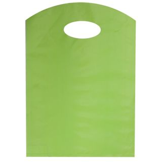 CURVE TOP BAG SML 300(H)x210(W)mm LIME (100)-70 MICRONS