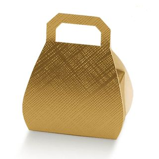 HANDBAG 80mm GOLD -PACK OF 10 (Buy 1 Get 1-NO RETURNS)