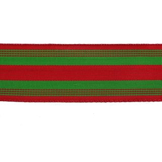 POLLYPOP 38mm x 9M RED/GREEN STRIPES (WIRED)