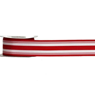 POLLYPOP 38mm x 9M RED/WHITE STRIPES (WIRED)