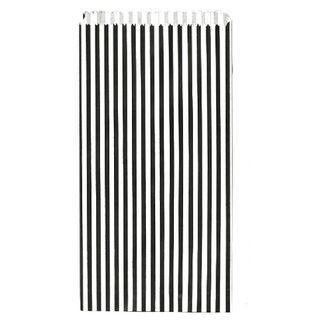 PAPER BAG MEDIUM BLACK/WHITE STRIPE 150(L)x290(H)x40(G)mm 250/PACK