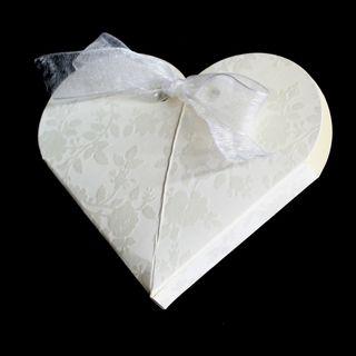 HEART SHAPE  65x15mm WHITE