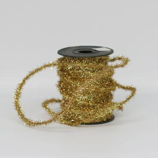 FUZZY TINSEL 6mm x 23M GOLD