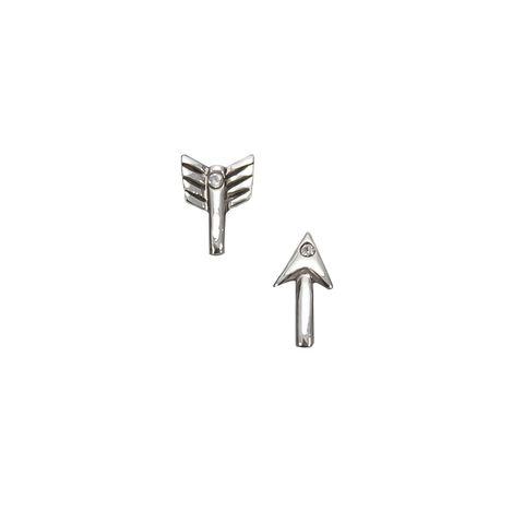 Silver - Split Arrow Stud
