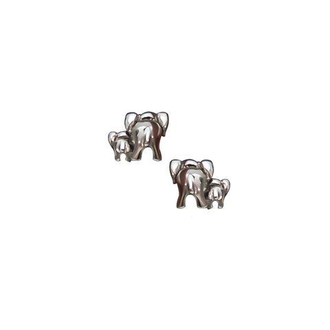 Silver- Two Elephants