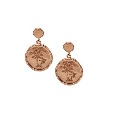 Rose - Coin Palm Earring