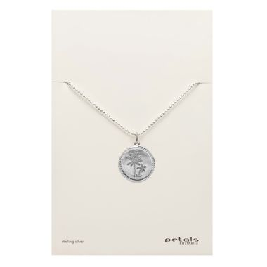 Silver - Coin Palm Necklace