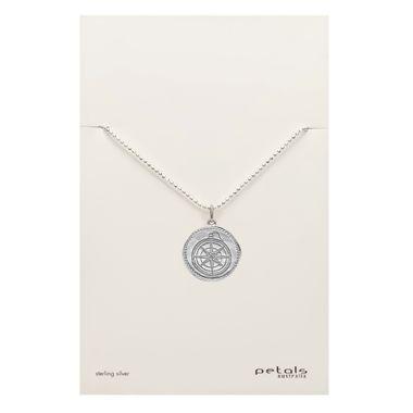 Silver- Coin Compass Necklace