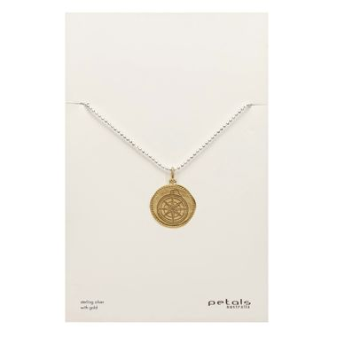 Gold - Coin Compass Necklace