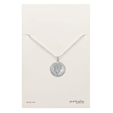 Silver - Coin Coral Necklace