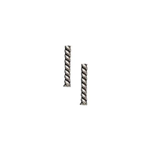 Silver - Striped Bar Stud