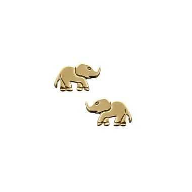Gold - Elephant Earring